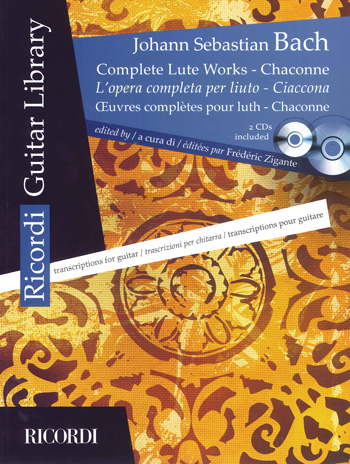 BACH:COMPLETE LUTE WORKS + 2 CD/transcriptions for guitar by Fr