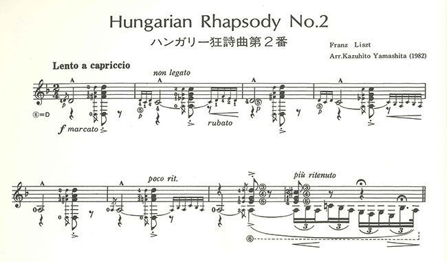 Hungarian Rhapsody No.2, Le Cygne, Caprice No.24 for Guitar Solo