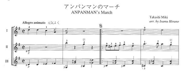 Pdf楽譜アンパンマンのマーチ三木たかし作平野勇編3g