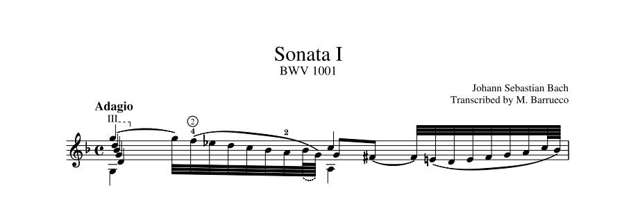 GA535 20773 Sonata G minor BWV 1001
