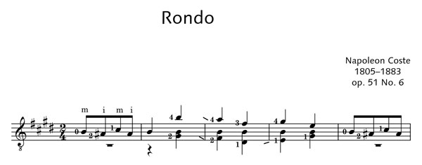 ED20505 17481 Coste, Napol on Rondo Op. 51 No. 6