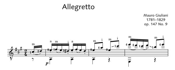 ED20505 17486 Giuliani, Mauro Allegretto Op. 147-9