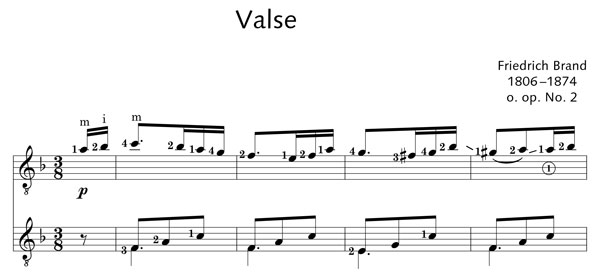 ED20886 5305 Brand, Friedrich Valse from XII Valses o. op. 2
