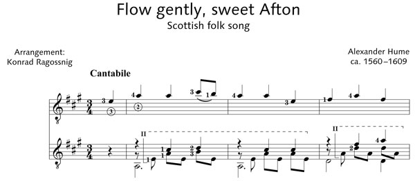 ED20886 5320 Hume, Alexander Flow gently, sweet Afton Scottish f