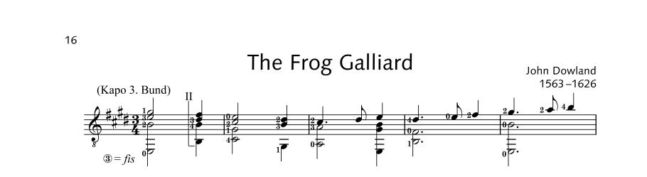 ED22060 20922 Dowland John The Frog Galliard