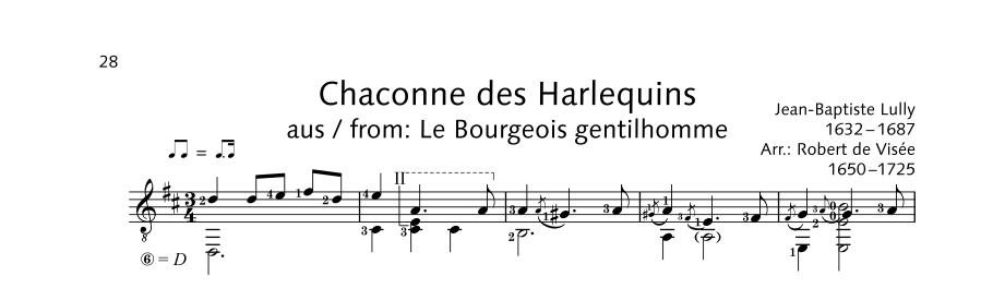 ED22060 20929 Lully Jean-Baptist Chaconne des Harlequins from: L