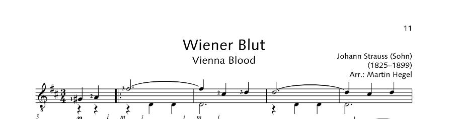 ED21908 21490 Strauss Johann Vienna Blood from: Waltz for Orches