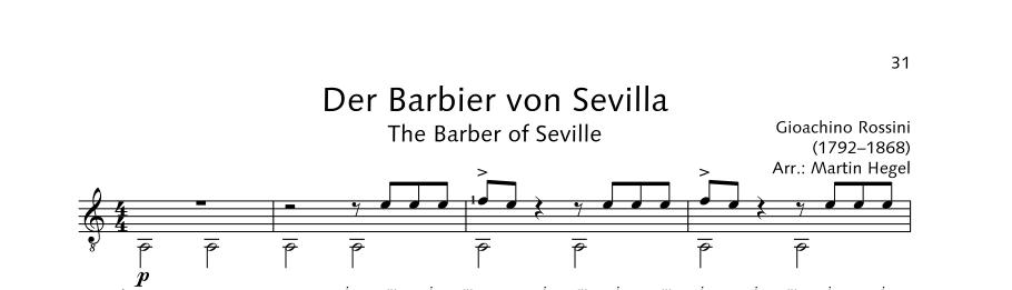 ED21908 21510 Rossini Gioacchino The Barber of Seville from: The