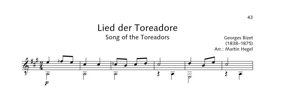 ED21908 21523 Bizet Georges Song of the Toreadors from: Carmen