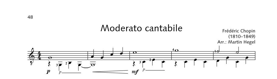 ED21908 21528 Chopin Frederic Moderato cantabile from: Fantasie