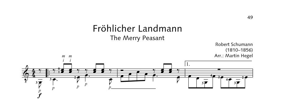 ED21908 21529 Schumann Robert The Merry Peasant from: Album For