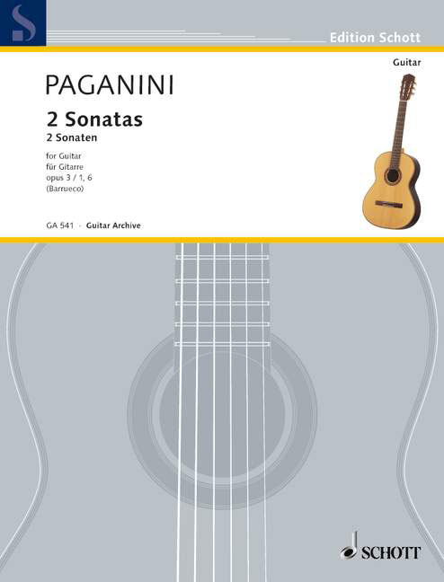 GA541 20776 Paganini, Niccol Sonata A major Op. 3 No. 1