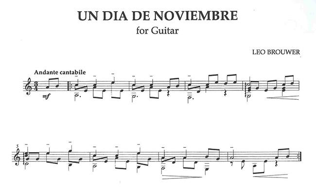 楽譜】ブローウェル:11月のある...